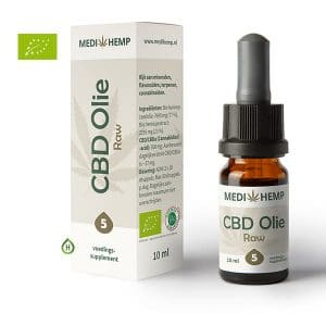 Medihemp RAW CBD olie 5 10ml