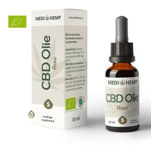Medihemp RAW CBD olie 5% 30ml